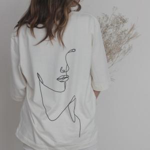 "Boxy-Shirt ""art of being"" natur"