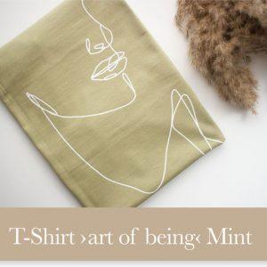 """T-Shirt """"art of being"""" mint"""
